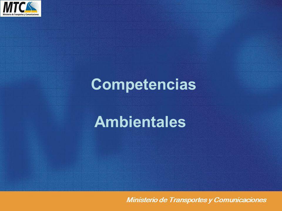 Ministerio de Transportes y Comunicaciones Competencias Ambientales
