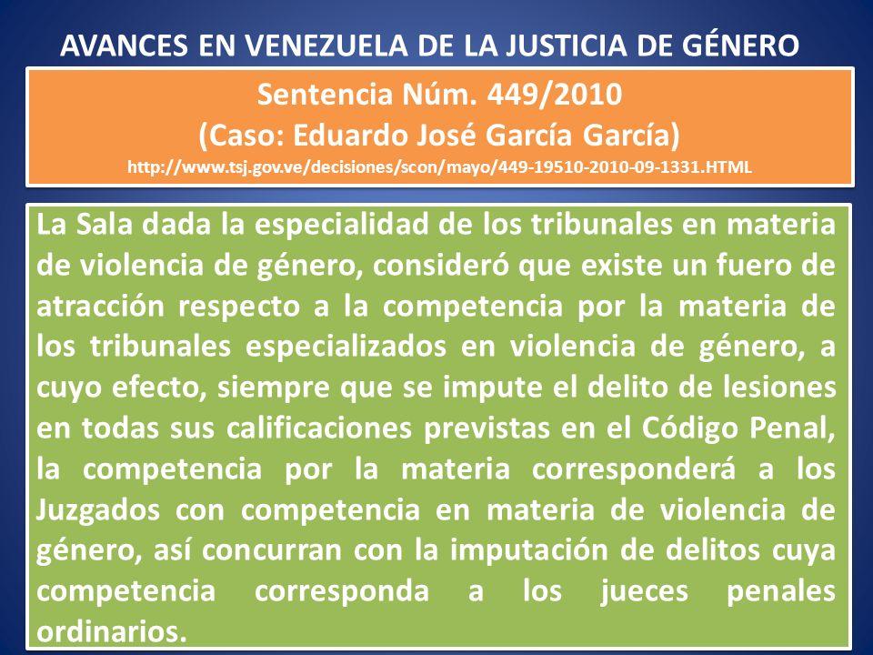 La Sala dada la especialidad de los tribunales en materia de violencia de género, consideró que existe un fuero de atracción respecto a la competencia
