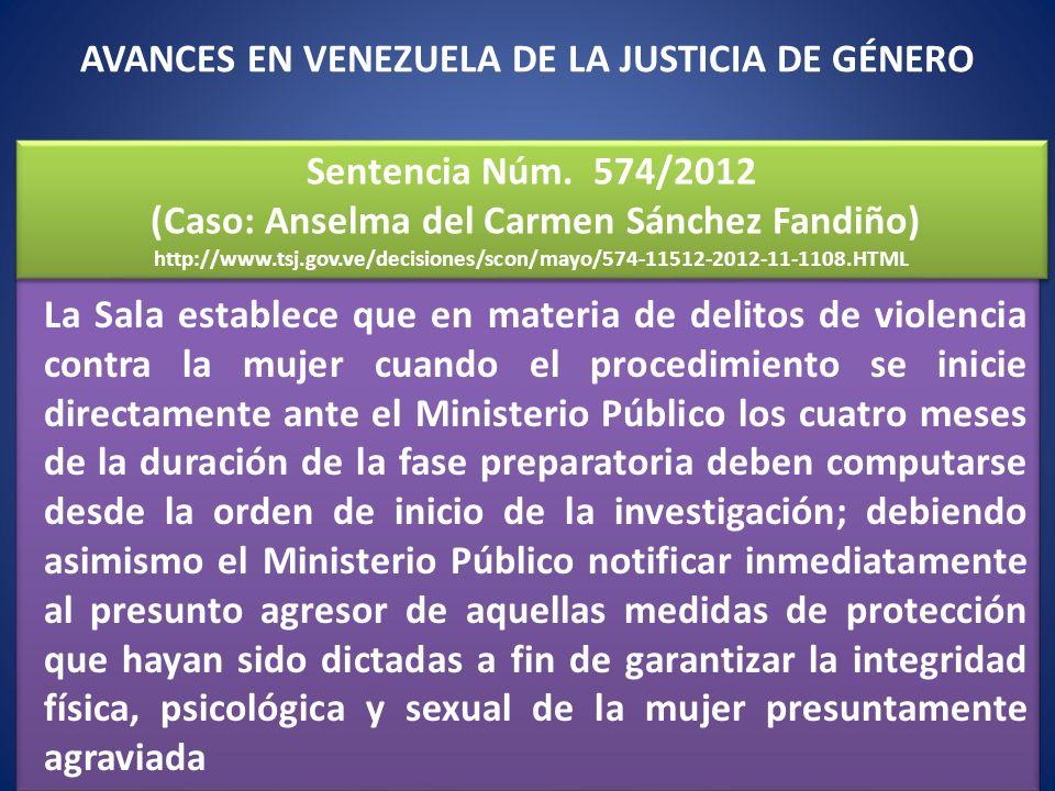 La Sala establece que en materia de delitos de violencia contra la mujer cuando el procedimiento se inicie directamente ante el Ministerio Público los