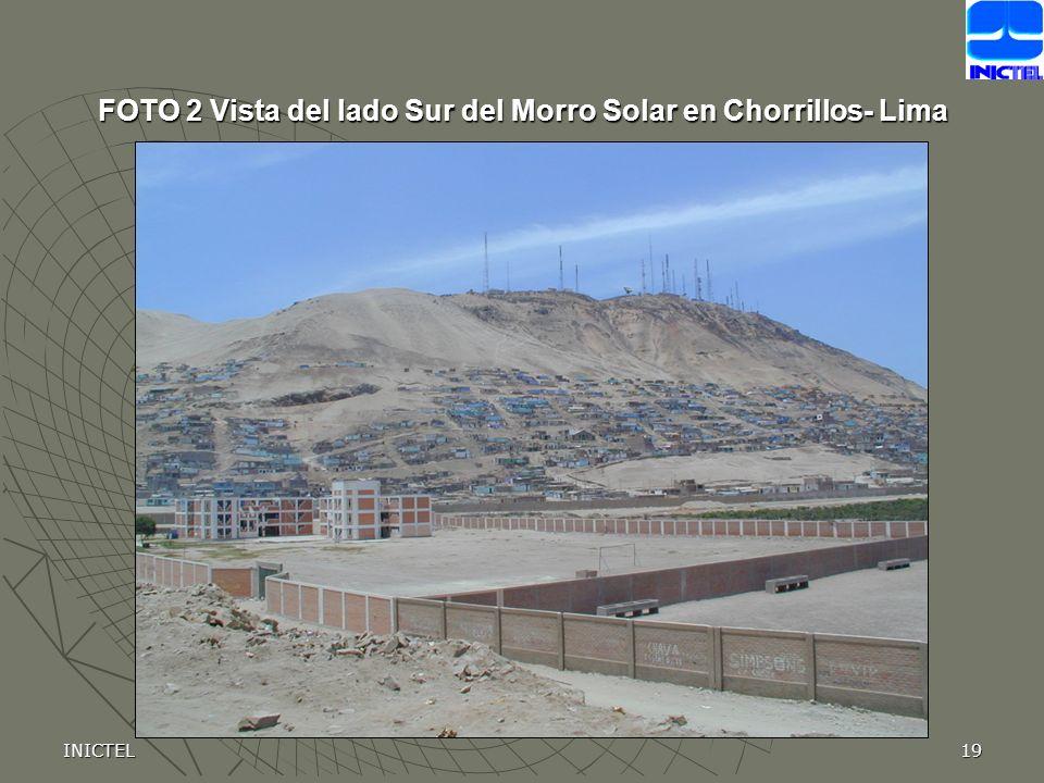 INICTEL19 FOTO 2 Vista del lado Sur del Morro Solar en Chorrillos- Lima