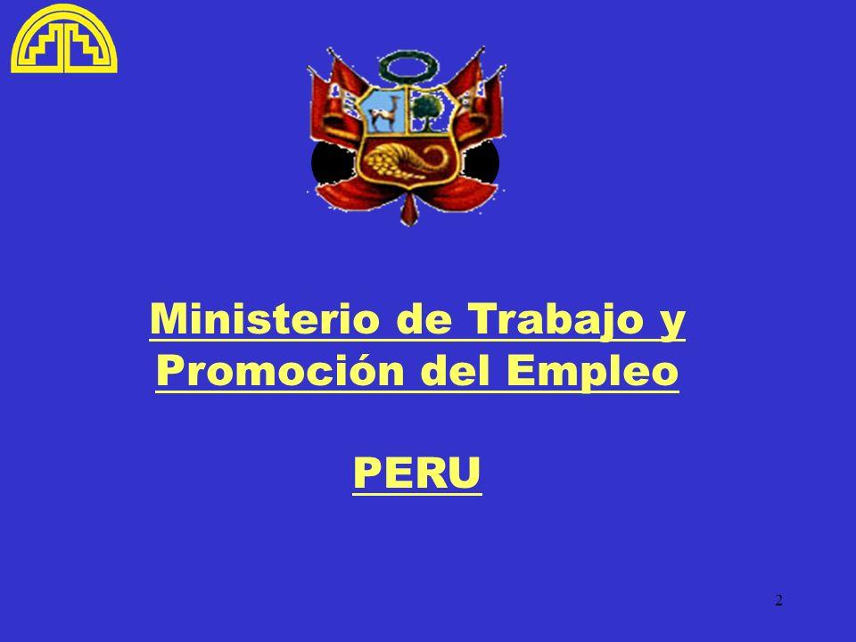 2 Ministerio de Trabajo y Promoción del Empleo PERU