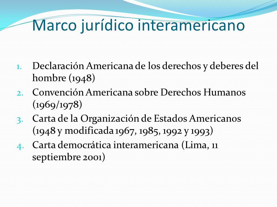 Marco jurídico interamericano 1.