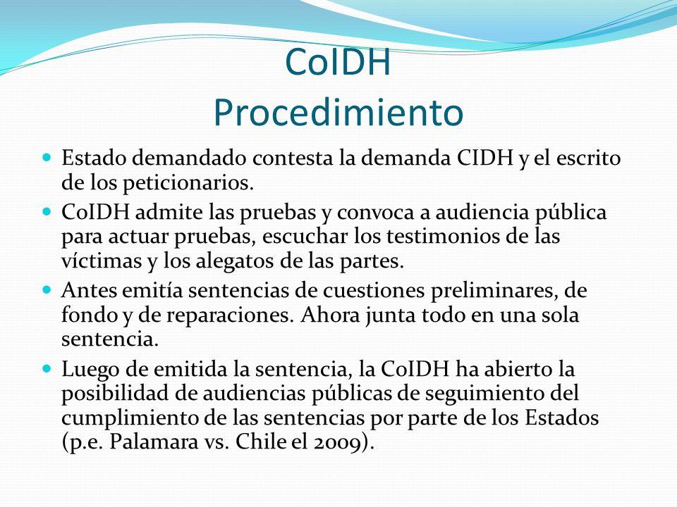 CoIDH Procedimiento Estado demandado contesta la demanda CIDH y el escrito de los peticionarios.