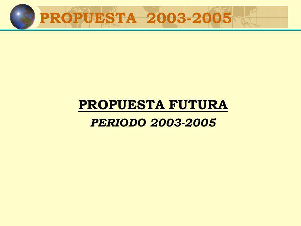 PROPUESTA 2003-2005 PROPUESTA FUTURA PERIODO 2003-2005