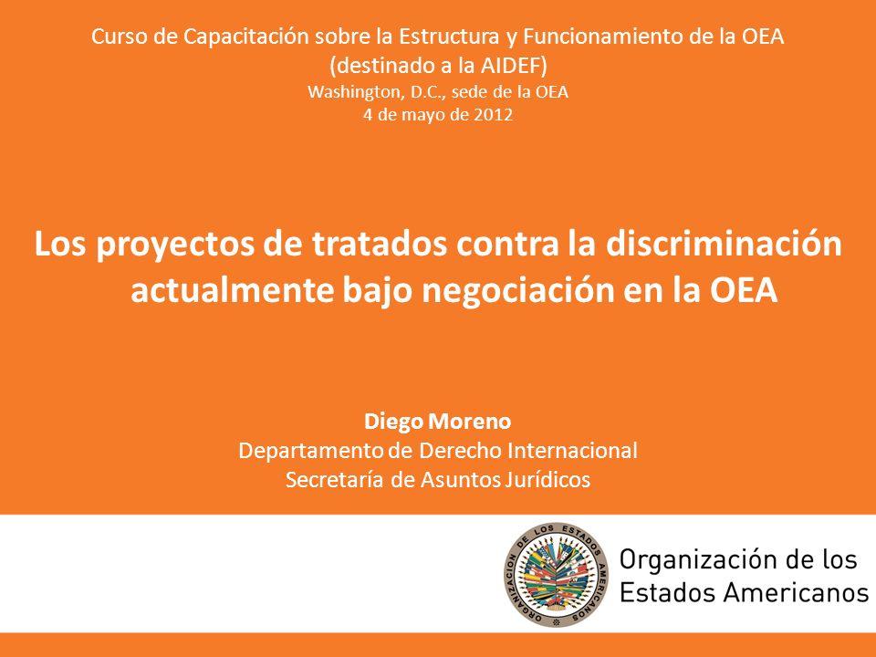 Curso de Capacitación sobre la Estructura y Funcionamiento de la OEA (destinado a la AIDEF) Washington, D.C., sede de la OEA 4 de mayo de 2012 Los pro
