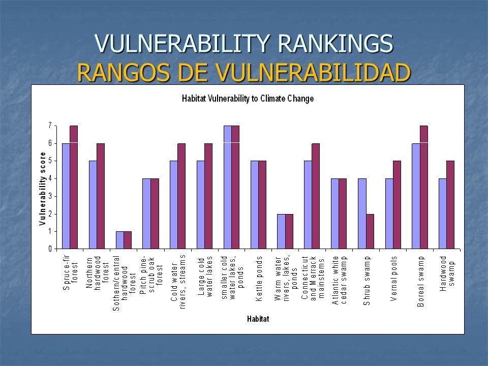 VULNERABILITY RANKINGS RANGOS DE VULNERABILIDAD