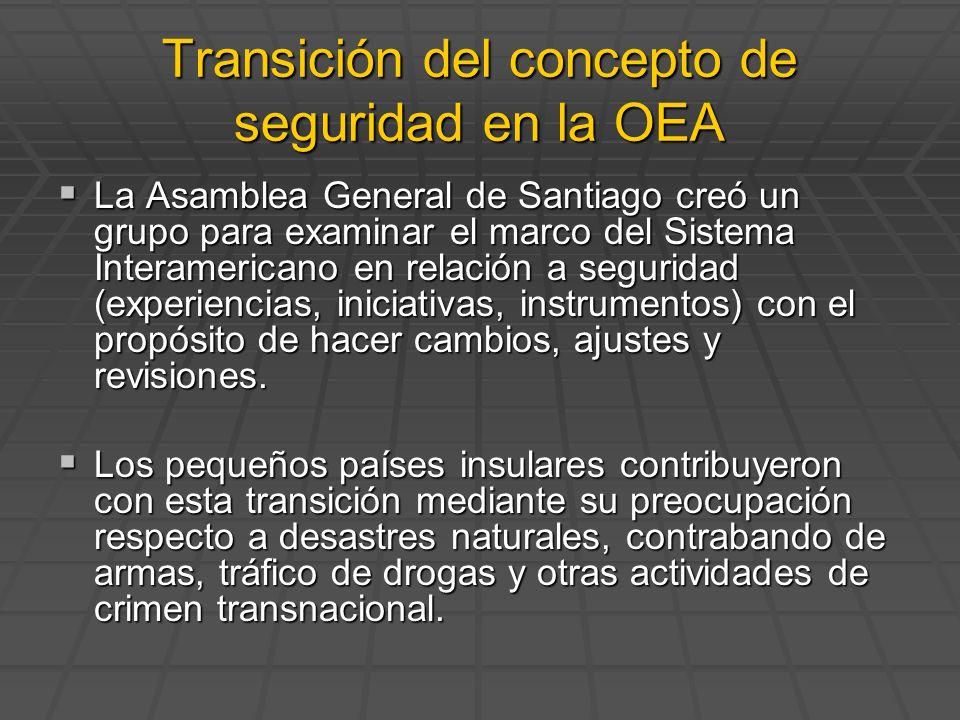 La Asamblea General de Santiago creó un grupo para examinar el marco del Sistema Interamericano en relación a seguridad (experiencias, iniciativas, in