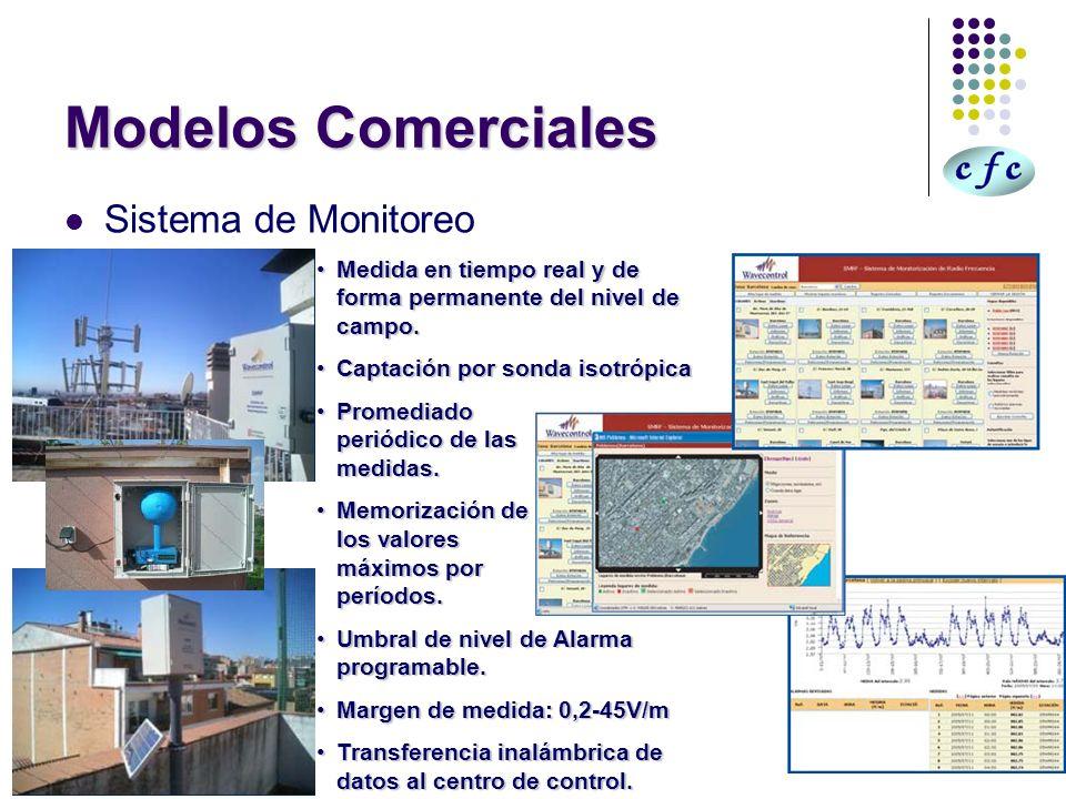 Modelos Comerciales Sistema de Monitoreo Medida en tiempo real y de forma permanente del nivel de campo.Medida en tiempo real y de forma permanente de