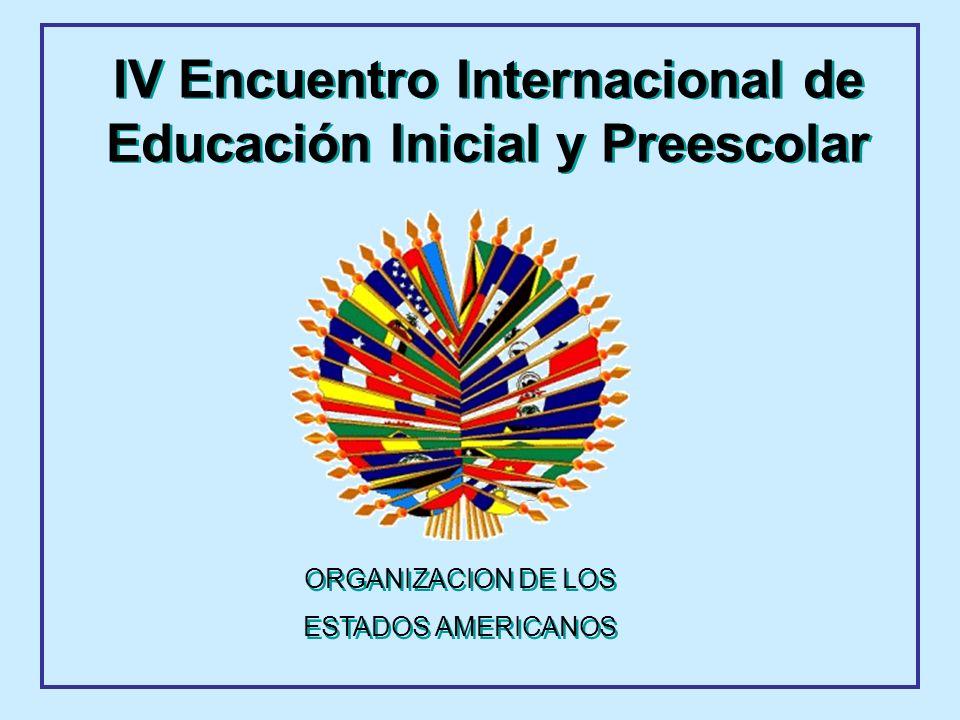 ORGANIZACION DE LOS ESTADOS AMERICANOS ORGANIZACION DE LOS ESTADOS AMERICANOS IV Encuentro Internacional de Educación Inicial y Preescolar