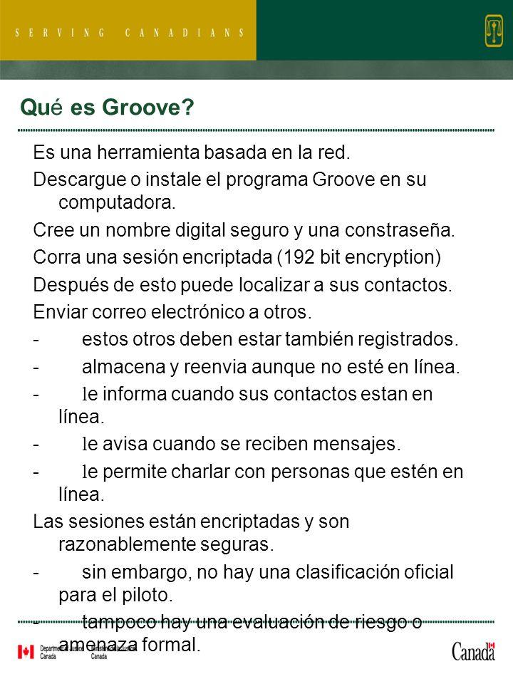 Qué es Groove. Es una herramienta basada en la red.