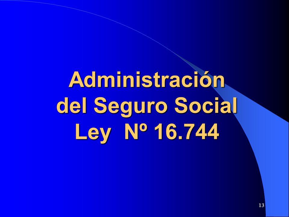 13 Administración del Seguro Social Ley Nº 16.744