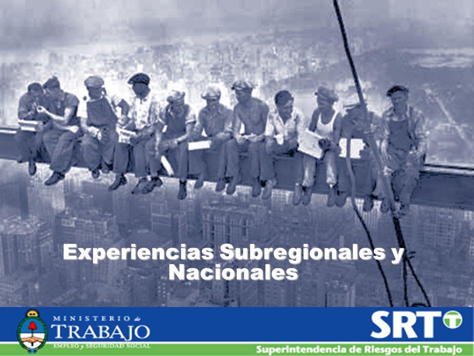 Experiencias Subregionales y Nacionales