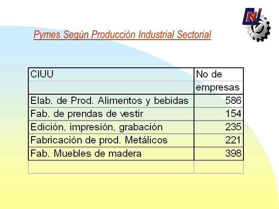 Pymes Según Producción Industrial Sectorial