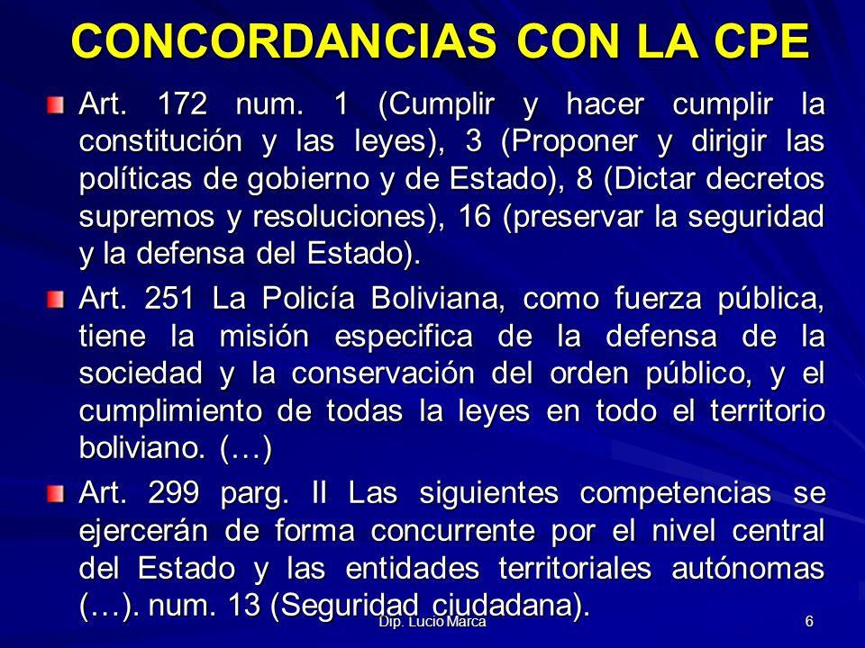 Dip.Lucio Marca 7 CONCORDANCIAS CON LA CON LA LEY MARCO DE AUTONOMIAS Art.