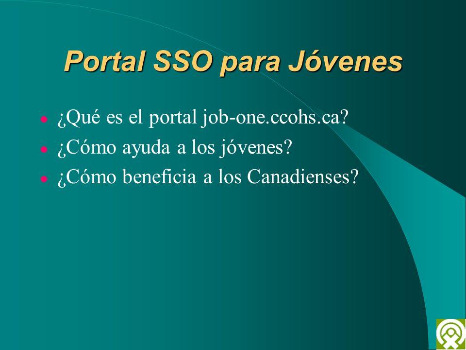 Portal SSO para Jóvenes ¿Qué es el portal job-one.ccohs.ca? ¿Cómo ayuda a los jóvenes? ¿Cómo beneficia a los Canadienses?