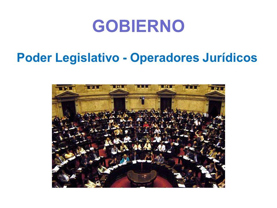 GOBIERNO Poder Legislativo - Operadores Jurídicos