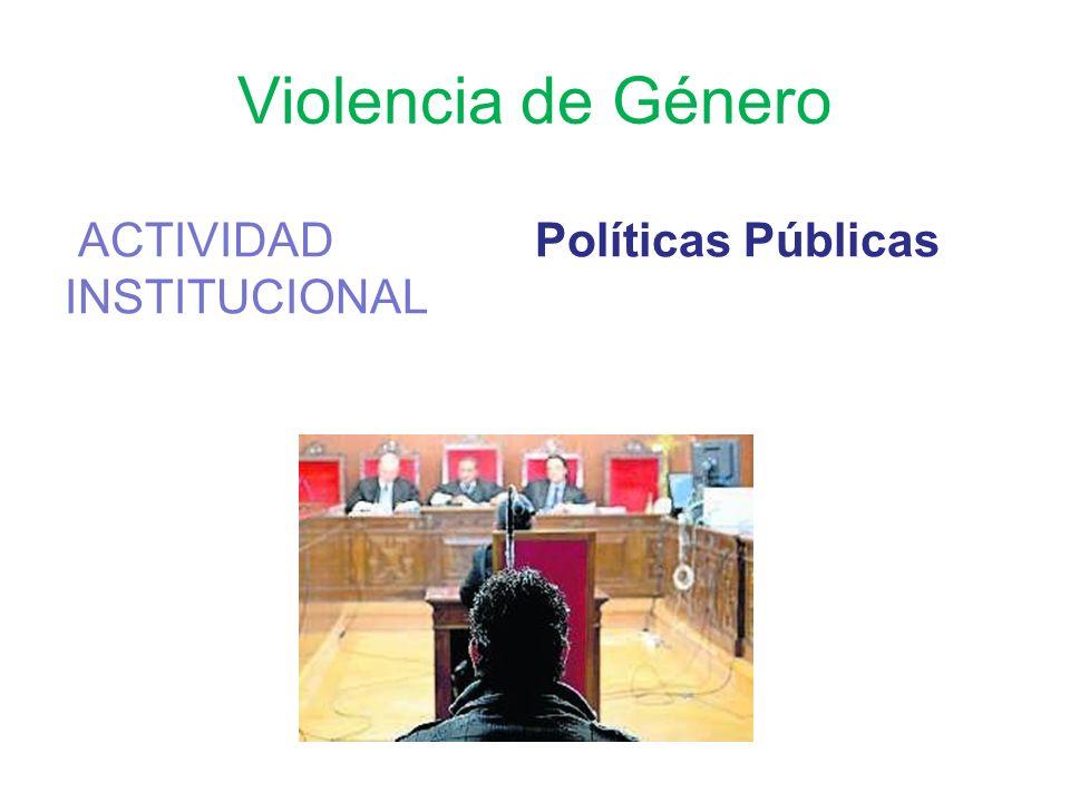 Violencia de Género ACTIVIDAD INSTITUCIONAL Políticas Públicas