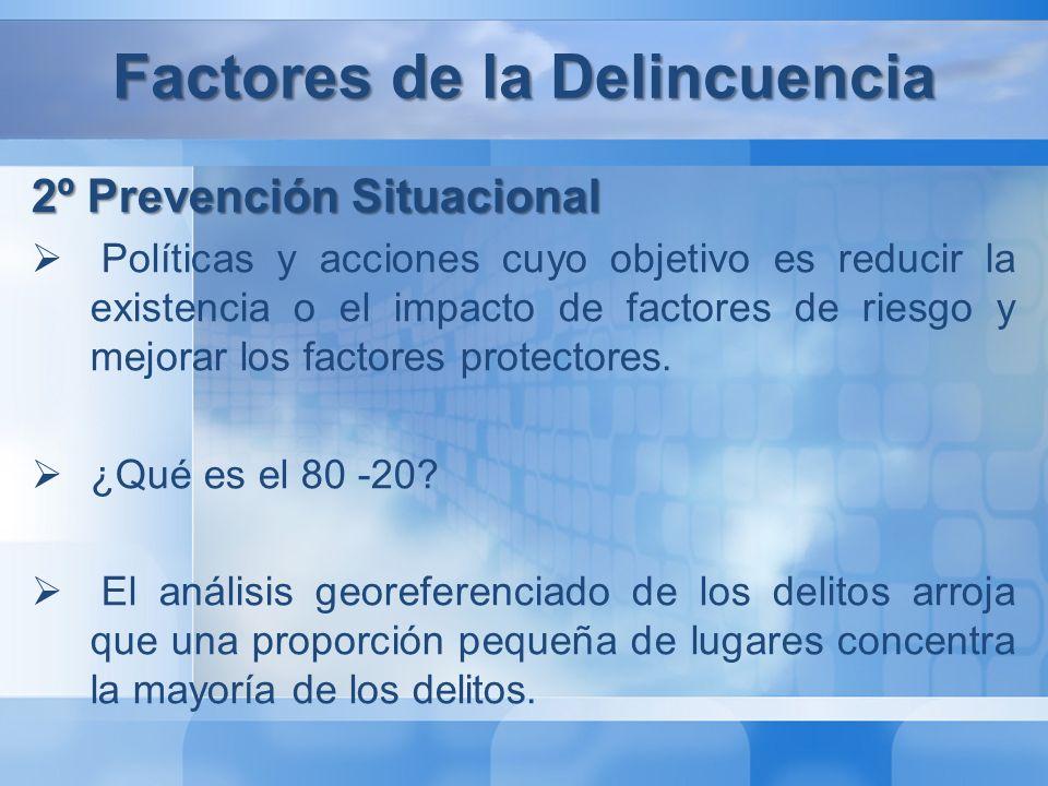 Factores de la Delincuencia 3º Sanción Penal Sistema procesal penal Justicia Especializada Sistema Penitenciario