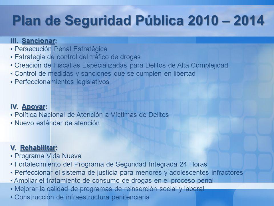 Plan de Seguridad Pública 2010 - 2014 VI.