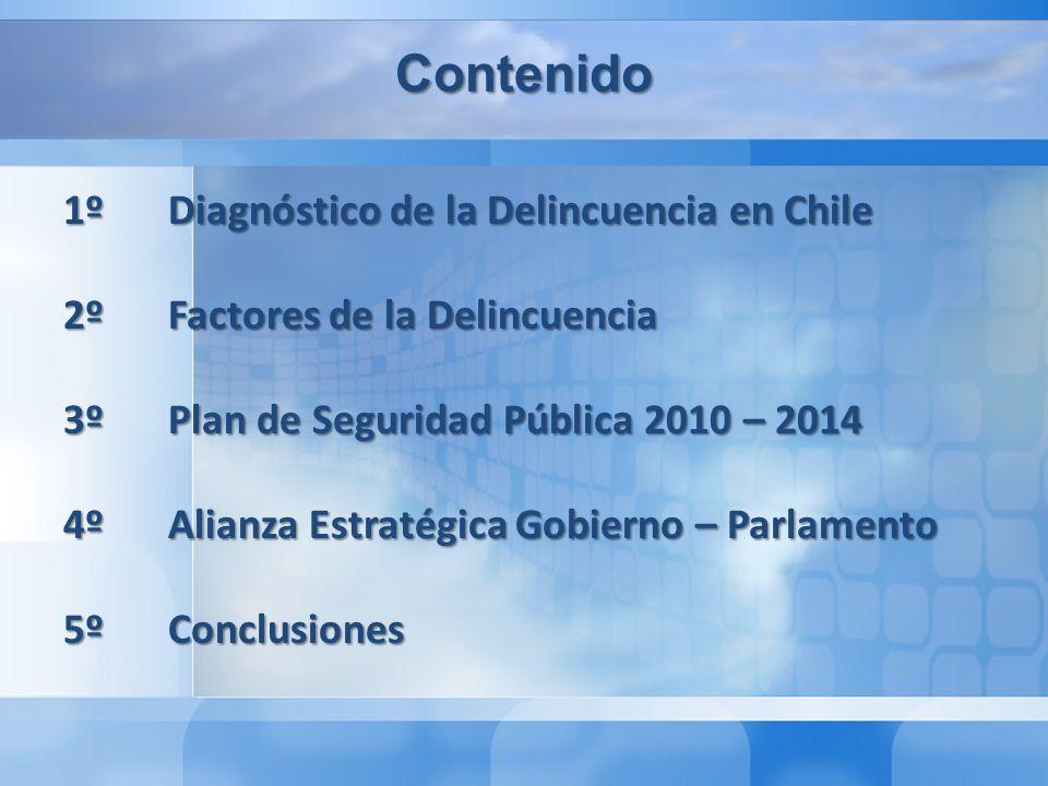 Diagnóstico de la Delincuencia en Chile La información es básica para la (a) definición de problemas; (b) generación de indicadores de resultado; (c) rendición de cuentas.