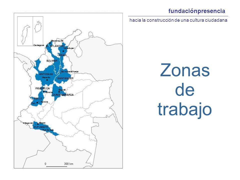 fundaciónpresencia hacia la construcción de una cultura ciudadana Zonas de trabajo