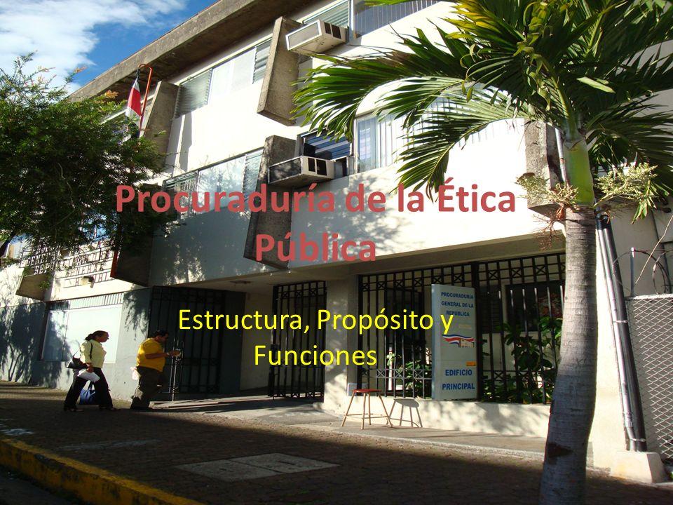 Procuraduría de Procuraduría de la Ética Pública Estructura, Propósito y Funciones