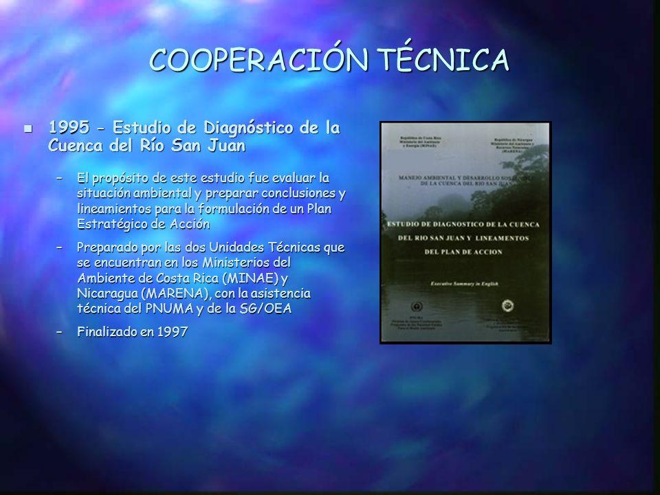 CONTEXTO REGIONAL n Octubre de 1994 - Alianza Centroamericana para el Desarrollo Sostenible (ALIDES), Managua –La ejecución del proyecto de la CRSJ contribuye a la implementación de las prioridades fijadas en ALIDES, incluyendo metas económicas, tales como, desarrollo de las zonas fronterizas; conservación de los recursos naturales; protección de la biodiversidad, especificamente, el Corredor Biológico Mesoamericano; uso sostenible de los recursos hídricos y protección de la integridad de las cuencas hidrográficas n Mayo 1999 - Declaración Conjunta de la XXX Reunión de Vicepresidentes Centroamericanos, Managua -La CRSJ contribuirá tanto a las iniciativas regionales como la elaboración de un Plan de Acción para el Manejo Integrado de los Recursos Hídricos en el Istmo Centroamericano, cuya implementación está a cargo del Comité Regional de Recursos Hidráulicos (CRRH), como Secretaría Técnica del Grupo Consultivo del Agua (GC-Agua) creado por el Sistema de Integración Centroamericano (SICA)