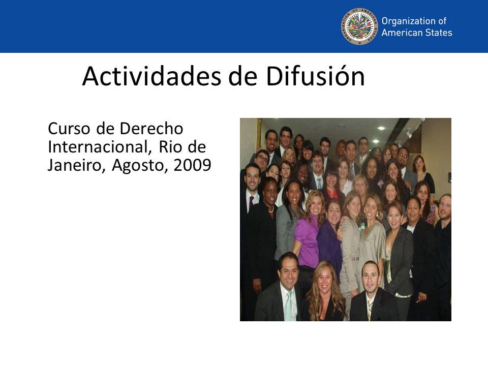 Actividades de Difusión Curso de Derecho Internacional, Rio de Janeiro, Agosto, 2009