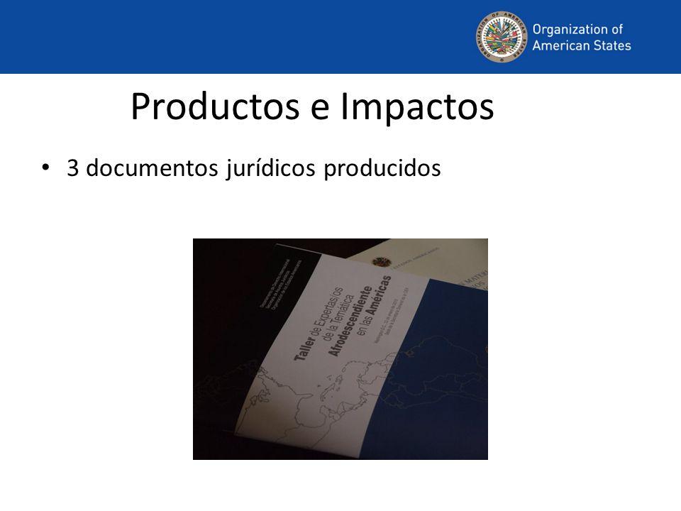 Productos e Impactos 3 documentos jurídicos producidos
