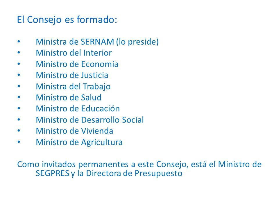 Comisiones Ministeriales de Género Es contituida por el asesor ministerial de Género sus funciones son: Elaborar compromisos ministeriales a partir de la Agenda de Género del Gobierno y de los acuerdos alcanzados en el Consejo de Ministros.