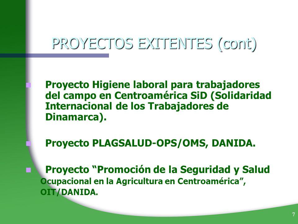 7 Proyecto Higiene laboral para trabajadores del campo en Centroamérica SiD (Solidaridad Internacional de los Trabajadores de Dinamarca). Proyecto PLA