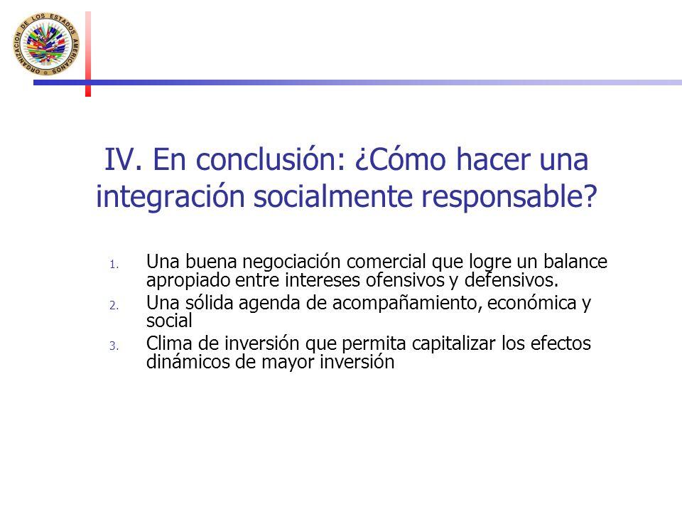 IV. En conclusión: ¿Cómo hacer una integración socialmente responsable.