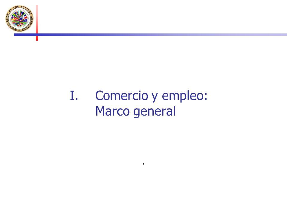 I.Comercio y empleo: Marco general.
