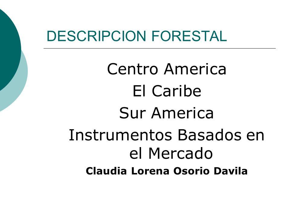 DESCRIPCION FORESTAL Centro America El Caribe Sur America Instrumentos Basados en el Mercado Claudia Lorena Osorio Davila