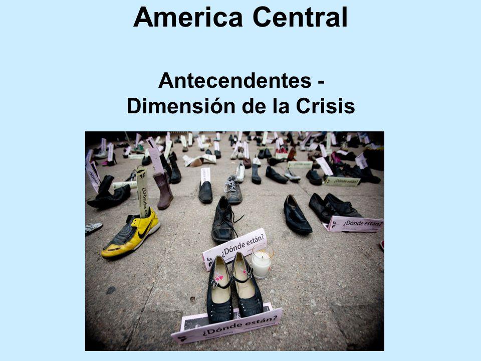 America Central Antecendentes - Dimensión de la Crisis