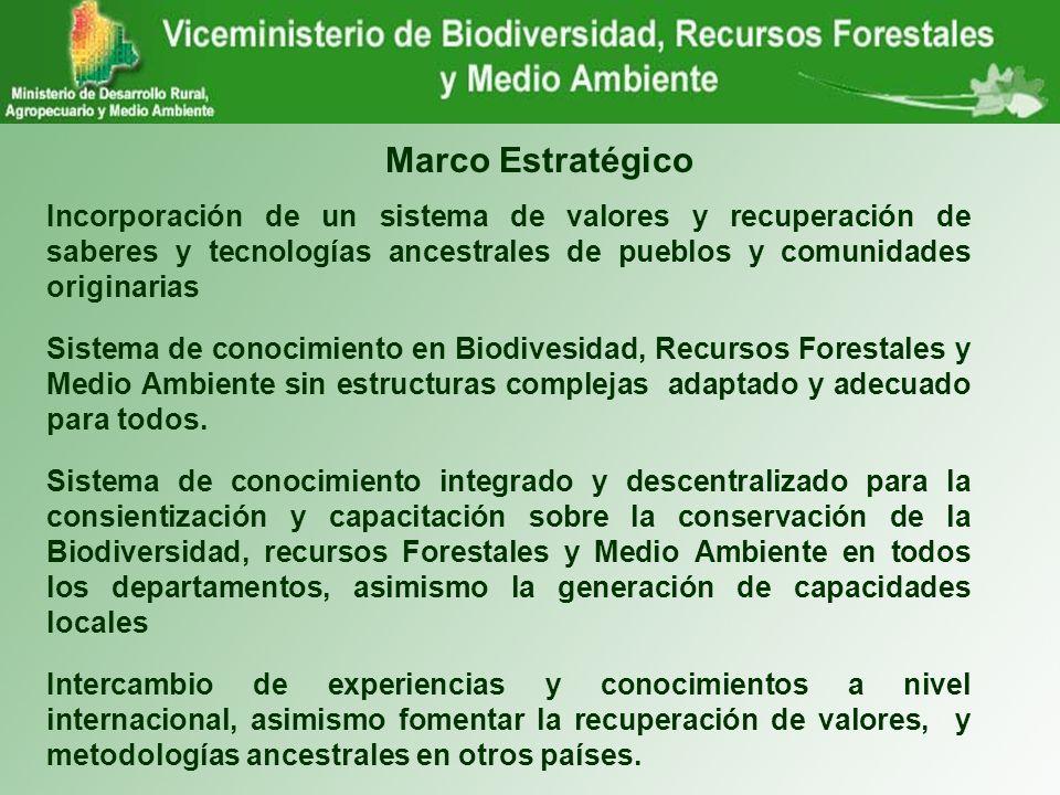 Marco Estratégico Incorporación de un sistema de valores y recuperación de saberes y tecnologías ancestrales de pueblos y comunidades originarias Sist