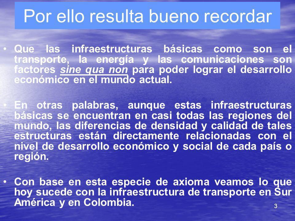 3 Por ello resulta bueno recordar Que las infraestructuras básicas como son el transporte, la energía y las comunicaciones son factores sine qua non p