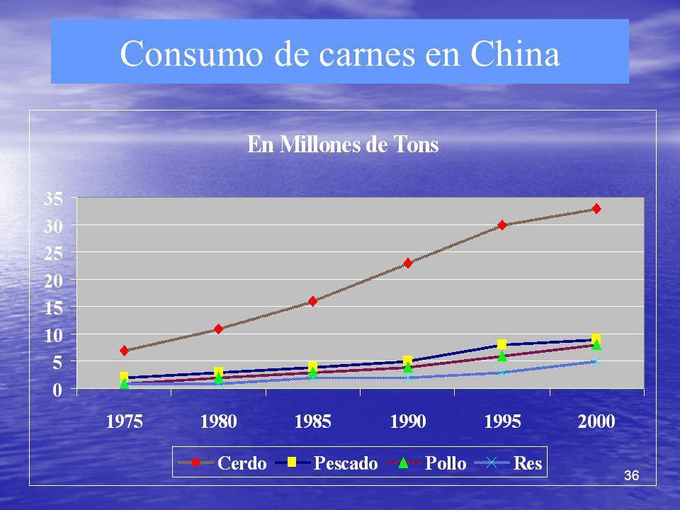 36 Consumo de carnes en China
