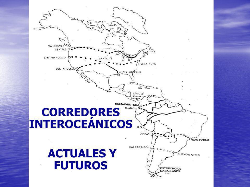 CORREDORES INTEROCEÁNICOS ACTUALES Y FUTUROS