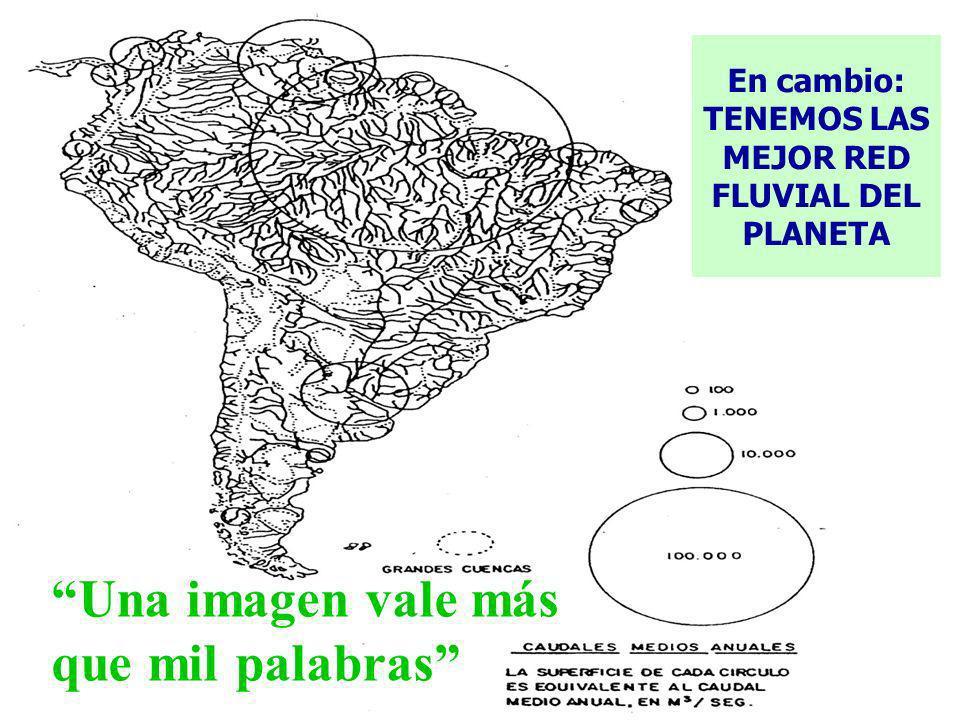 7 Una imagen vale más que mil palabras En cambio: TENEMOS LAS MEJOR RED FLUVIAL DEL PLANETA