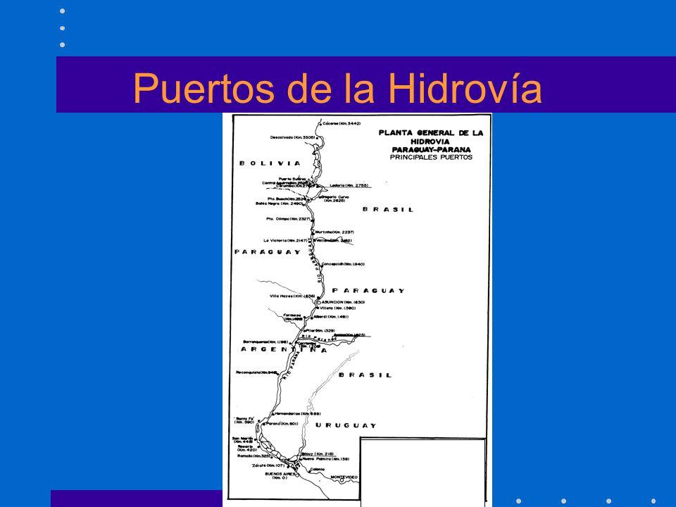 Puertos de la Hidrovía Aministración Nacional de Navegación y Puertos Presidente: Lic. Oscar Navarro Valdez Secretaría de Hidrovía Coordinador: Ing. R
