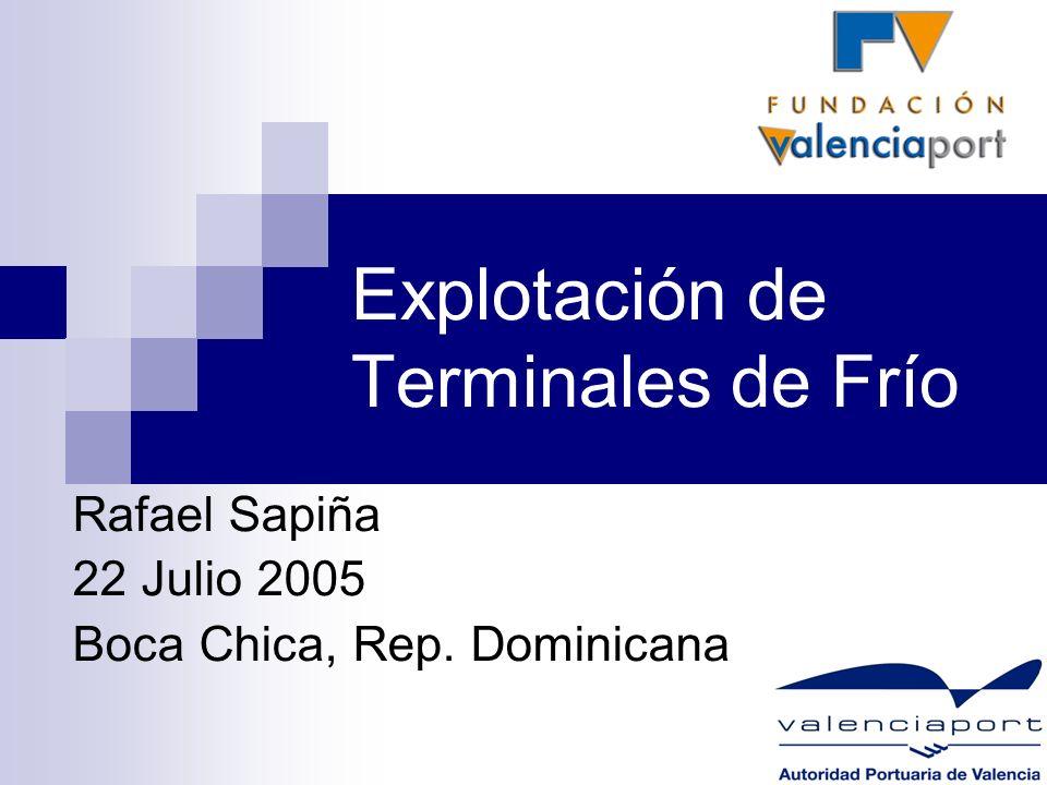 Explotación de Terminales de Frío Rafael Sapiña 22 Julio 2005 Boca Chica, Rep. Dominicana