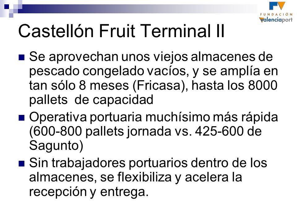 Castellón Fruit Terminal II Se aprovechan unos viejos almacenes de pescado congelado vacíos, y se amplía en tan sólo 8 meses (Fricasa), hasta los 8000