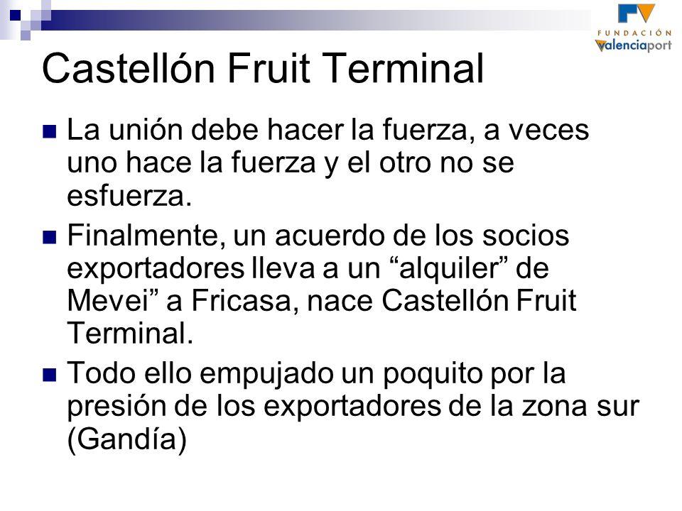 Castellón Fruit Terminal La unión debe hacer la fuerza, a veces uno hace la fuerza y el otro no se esfuerza. Finalmente, un acuerdo de los socios expo