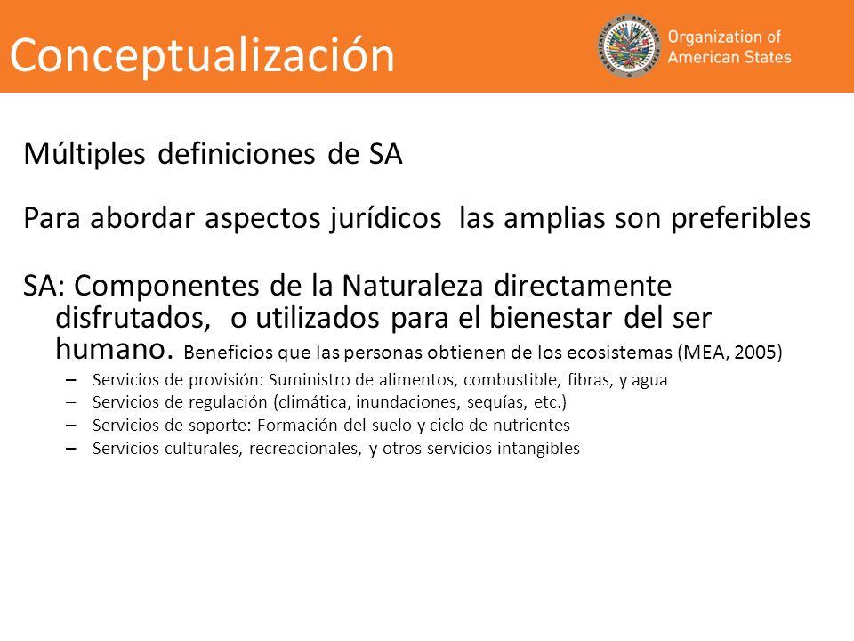 Incentivos incluidos en el marco legal de los países para el desarrollo de PSA