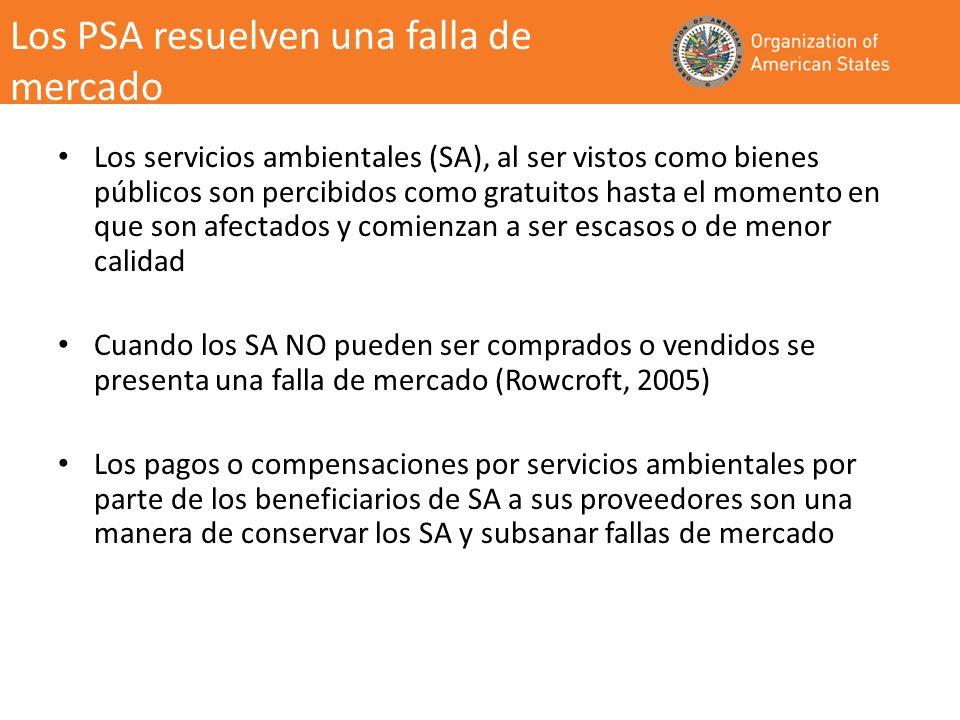 Los Gobiernos de Latinoamérica y el Caribe están cada vez más interesados en participar en los esquemas de PSA.