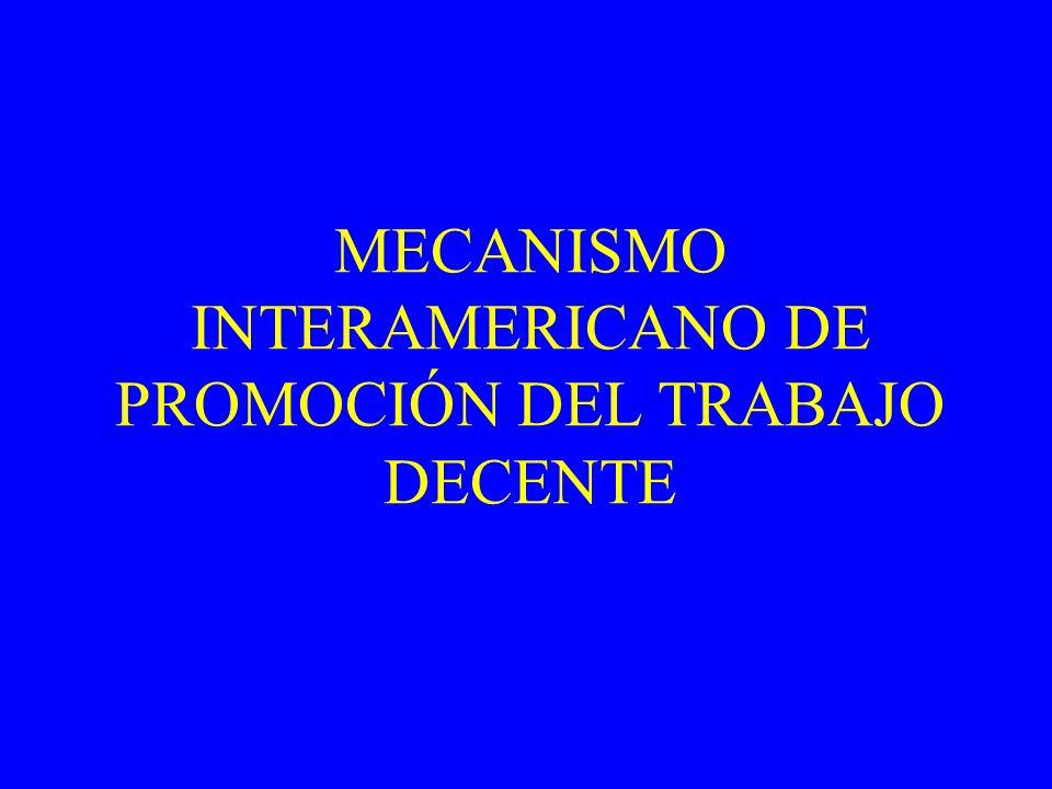 MECANISMO INTERAMERICANO DE PROMOCIÓN DEL TRABAJO DECENTE