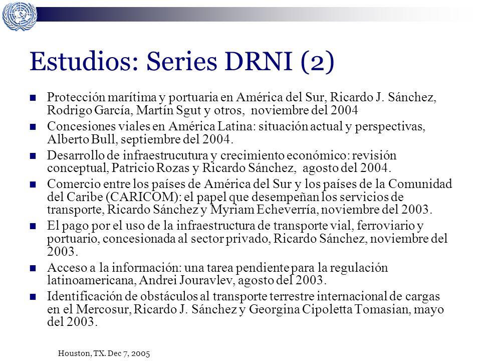 Houston, TX. Dec 7, 2005 Protección marítima y portuaria en América del Sur, Ricardo J.