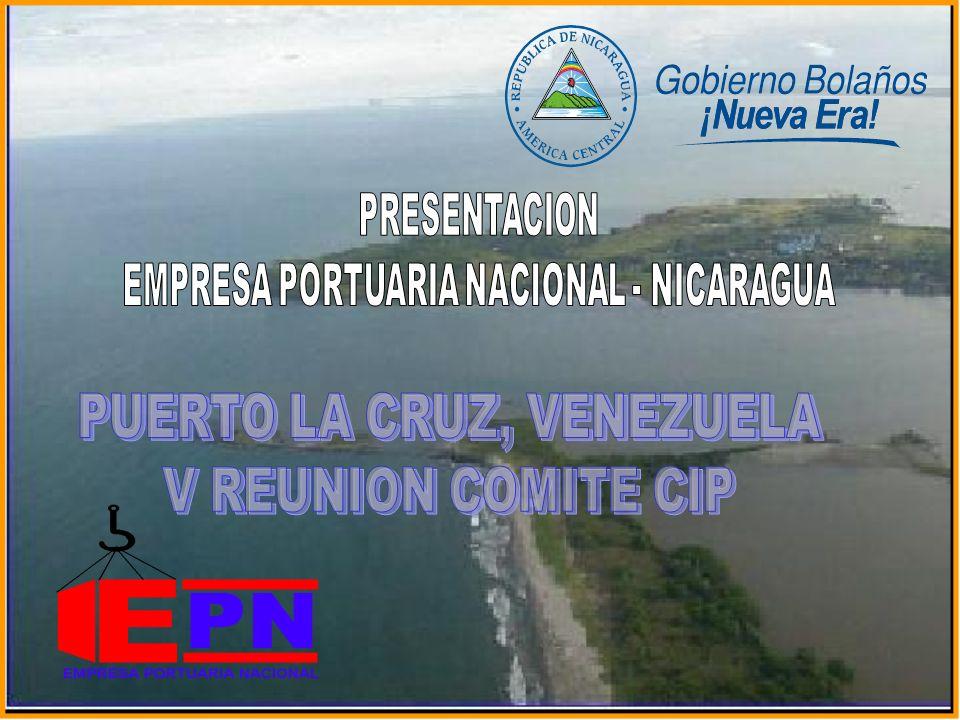 INVERSIONES AÑO 2003 PUERTO DE CORINTO Restauración del Muelle de Carga General, con una longitud de 375 metros de largo y 22 metros de ancho, con un costo de US$ 2,300.000.00.