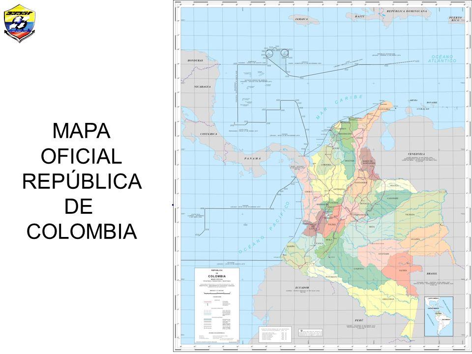 Mapa Oficial (Fronteras) MAPA OFICIAL REPÚBLICA DE COLOMBIA